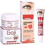 Goji Beere Anti-Aging Gesichts Creme + Dunkle Kreis Falten-entfernende Augencreme