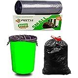 Sjeware 60 Bags 2 Box Plastic Biodegradable Garbage Bags, Black, Small, Pack of 2 (60 Bags)