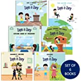 Zayn & Zoey Toddlers Set of 6 books (Transport, Houses, 5 senses, Seasons, Water Cycle, Community Helpers) - for kids 2 to 6
