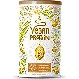Vegan Protein - Chocolade - Plantaardig proteinen van gekiemde rijst, erwten, lijnzaad, amaranth, zonnebloempitten, pompoenza