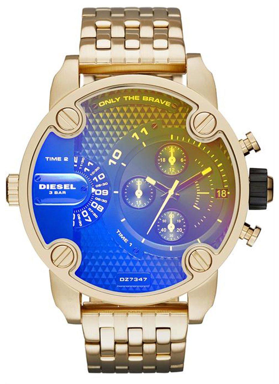 Caballeros-reloj Diesel poco Papá analógico de acero inoxidable de cuarzo DZ7347
