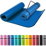 GORILLA SPORTS® Yogamat met draagriem, 190 x 60 x 1,5 cm / 190 x 100 x 1,5 cm, antislip en ftalaatvrij, gymnastiekmat voor fi