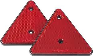 Dreieckrückstrahler Paar Kunststoff Rot Zum Schrauben Anhänger Reflektor Auto