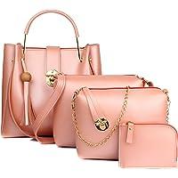 Mammon Women's Handbag (Set of 4) (4L-bib-Bpink_Pink)