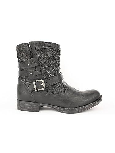 Noir jardins Femme Noué fonds caoutchouc a616070d-100Noué fond en caoutchouc de chaussures de sport 6cm - noir - noir, 38 EU EU