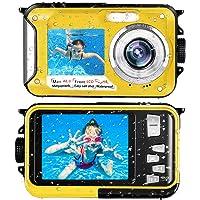 Unterwasserkamera wasserdichte Kamera Full HD 2.7K 48MP Selfie Dual Screens Unterwasser…
