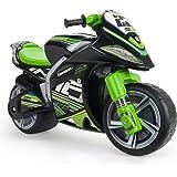 INJUSA - Moto Correpasillos Winner Kawasaki XL No Eléctrico, Color Negro y Verde, con Licencia Oficial de Marca Recomendado p