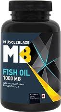 MuscleBlaze Omega 3 Fish Oil 1000 mg (180mg EPA and 120mg DHA) - 180 capsules