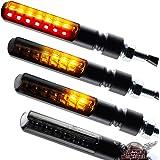 Motorrad LED Lauflicht Laufeffekt Blinker mit Rücklicht Bremslicht Sequentiell Blade schwarz getönt