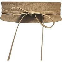 Women's Obi Belt Wide Lace Waist Band Faux Leather Cinch Tie up One Size Boho
