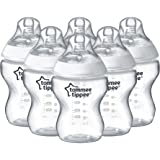 Tommee Tippee Closer to Nature Feeding Bottles , 260 ml, Pack of 6