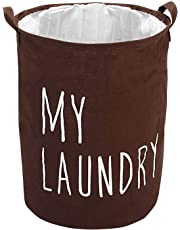 Styleys Folding Laundry Bag for Clothes with Drawstring Closure 63 - Litere (S11050 - Brown)