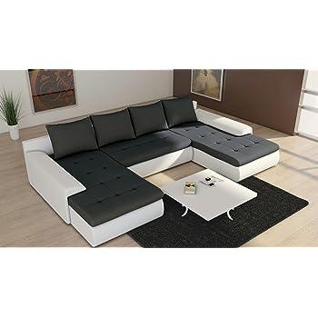 tendencio canap panoramique convertible et rversible joyu noir et blanc - Canape Panoramique Convertible