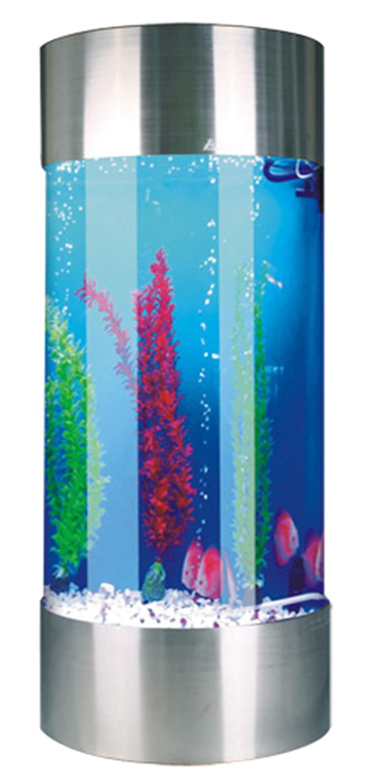 Den Marketing Stainless Steel Cylinder shaped Acrylic Aquarium 268L