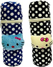 First Trend Baby Feeding Bottle Cover with Soft & Attractive Fancy Cartoon Set of 2 Colors & Designs : Zipper