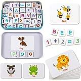 Lewo Letras y Números Magnéticos Letras de Madera Imanes de Nevera para Niños Juguetes Educativos Juguetes Montessori para Ni