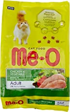 Me-O Adult Cat Food, Chicken and Vegetable, 1.2 Kg