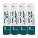 ENVIE® (AA10004PLNi-CD) AA Rechargeable Batteries   High-Capacity Ni-MH   1000 mAh   Low Self Discharge   (Pack of 4)