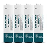 Envie Pack of 4, AA Ni-CD 1000mAh Capacity Rechargeable Battery (AA1000 4PL Ni-CD)