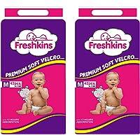 Freshkins Taped Diaper, Medium -(Pack of 2, 84 Unit)