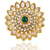 Yellow Chimes Latest Traditional Collections Copper and Cubic Zirconia Classic Cocktail Ring for Women & Girls