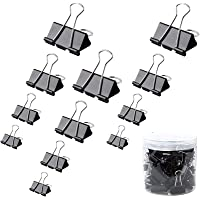 120 Pack Metal Bulldog Clips Paper Clips 4 Sizes Bulldog Clip 32mm 25mm 19mm 15mm Foldback Clips Clamp Binder Clips…