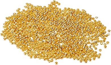 Brass Round Crimp Beads Golden Beading Assortments 2.5mm for DIY Craft Jewelry Making