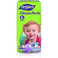 Drypers Classicpantz Large Sized Pant Style Diaper (32 Counts)