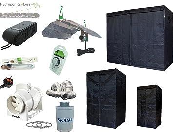 LUMii LIGHTHOUSE Hydroponic Grow Tent Kit HPS 400w 600w 1m x1m to 1.2 x 2.4 (600w 1.2m x 1.2m x 2m (1.2m2)) Amazon.co.uk Garden u0026 Outdoors & LUMii LIGHTHOUSE Hydroponic Grow Tent Kit HPS 400w 600w 1m x1m to ...