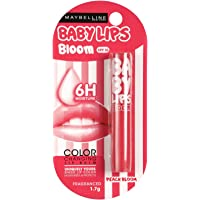 Maybelline New York Baby Lips Color Changing Lip Balm, Peach Blossom, 1.7g