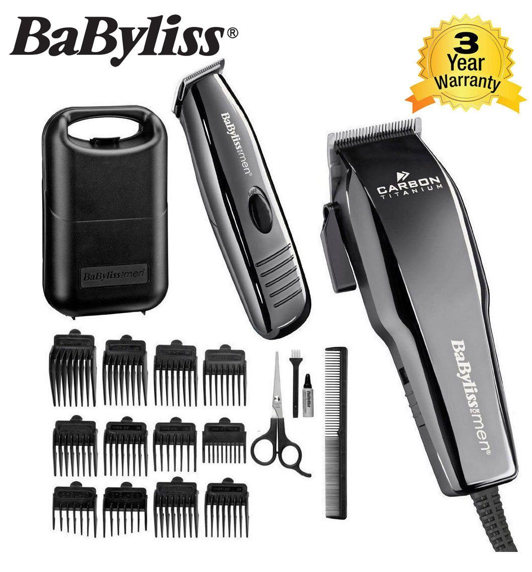 Hair Clipper & Detail Trimmer Set Carbon Titanium from BaByliss - 71CPckZJpNL - Hair Clipper & Detail Trimmer Set Carbon Titanium from BaByliss