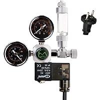 NICREW CO2 Druckminderer Aquarium, CO2 Druckregler mit 2 Manometer, Magnetventil und Blasenzähler für Aquarium System