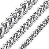 ChainsHouse - Catena da Uomo Franco a Maglia barbazzale Doppia Quadrata in Acciaio Inossidabile Placcato Oro 18 K Biker Hipho