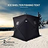 AYNEFY Winter Fishing Tent, 2 Person Waterproof Oxford Cloth