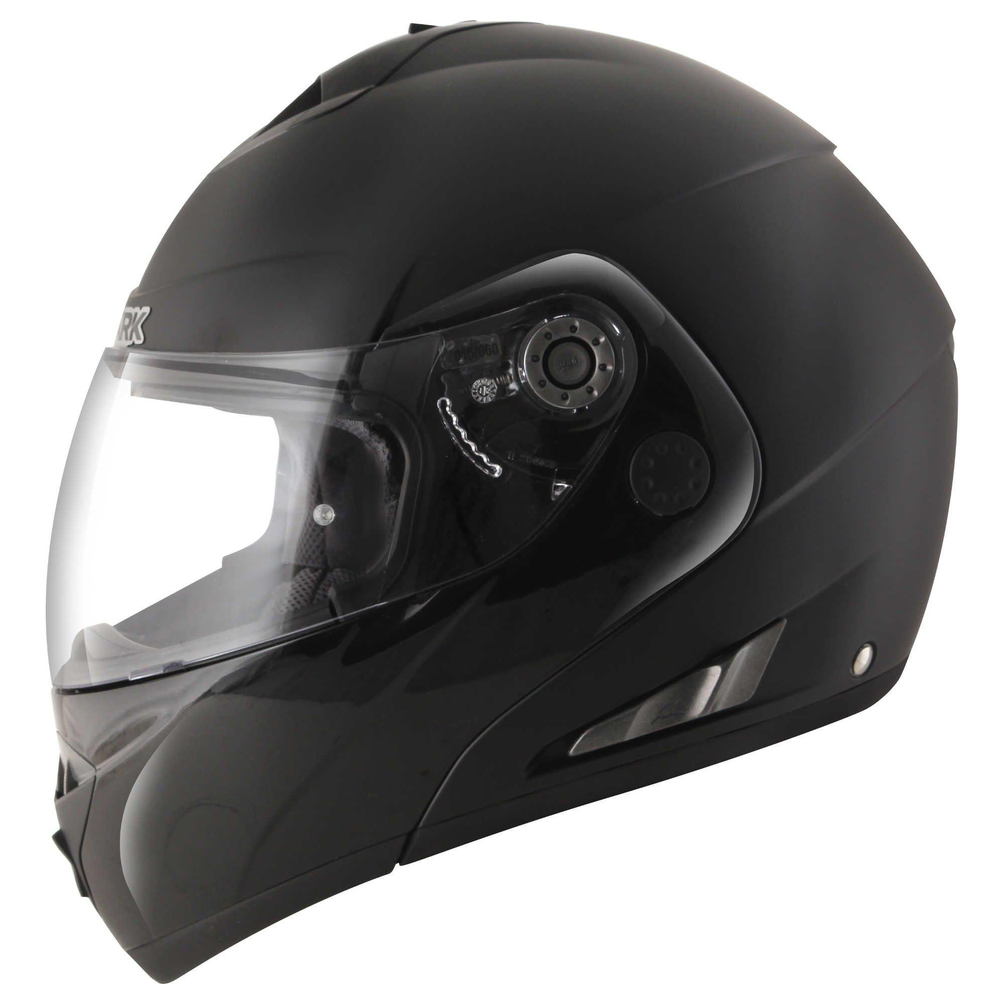 HE9665EBLKM - Shark OpenLine Pinlock Dual Black Flip Front Motorcycle Helmet M Matt Black (BLK)