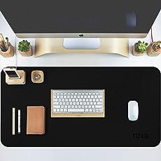 Tizum Z14 Office Desk Pad Blotter – Gaming Mouse Pad -Vegan Leather (35 Inch X 17.7-Inch - Black)