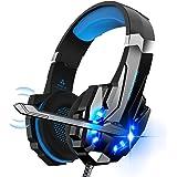 Auriculares Gaming PS4,Cascos Gaming, Auriculares Cascos Gaming de Mac Estéreo con Micrófono Juego Gaming Headset con 3.5mm J