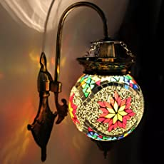 Earthenmetal Handcrafted Ball Shaped Hanging Wall Lamp/Light With Metal Fitting