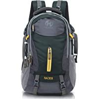 HEROZ Hacker 50 litres Nylon Travel Laptop Backpack Water Resistant Slim Durable Computer Book Bag Tracking Fits Up to…