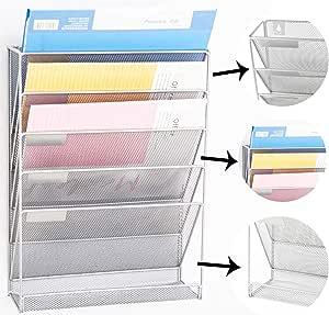 Formato A4 Metallo Relaxdays Vaschette Porta-Documenti e Lettere da Scrivania Argento 3 Vassoi