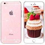 BENTOBEN iPhone 6S Hülle iPhone 6 Handyhülle Transparent Glitzer, iPhone 6 6S Case Slim Glitzer Anti Gelb Silikon Bumper…