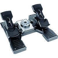 Pedali Logitech G Saitek Pro Flight Rudder, Pedaliera del Timone di Volo, Freni a Pedale Simulazione Professionale…