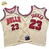 Camiseta de Baloncesto Michael Jordan Chicago Bulls, Camiseta Retro Bordado clásico n. ° 23 para Hombres, Sudadera Juvenil Tr