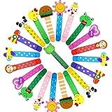 ZOCONE Segnalibro Animali Legno Segnalibri, 40 Pezzi Segnalibri Bambini Segnalibro Animali, per Battesimo/Compleanno Bambini/
