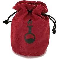 Sacchetto porta dadi e segnalini in velluto rosso, con decoro a tema pozione nero. Disponibile in 3 misure, foderato…