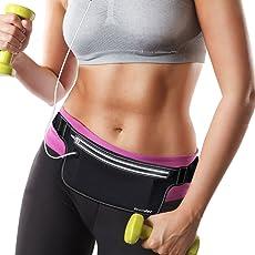 Teorder Laufgürtel Running Fitness Belt für Joggen,Outdoor Trekking,Sport Hüfttasche für iPhone 6/6s/7 Plus/Samsung Galaxy Handy