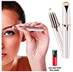 Carecroft eyebrow trimmer electric razor shaver painless hair eyebrows threading machine for Women removal tool for...