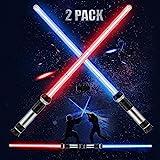 BTOSEP Sabres Laser pour Enfants, 2 en 1 épée Lumineuse pour Enfants Sabre Laser de Vie Jouet épée Flexible Jouets pour noël