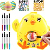 joylink Decoración de Huevos de Pascua, Huevos Pintados de Bricolaje DIY Huevo de Pascua Kit con Máquina Huevos de Pascua, 8