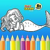 Sirène Jeux coloriage - dessin libre, peinture et jeux de relooking pour faire de belles images et Mermaids stimuler la créativité...